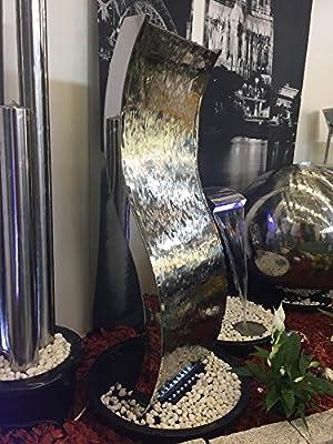 """KÖHKO® Wasserwand """"Otter"""" mit LED-Beleuchtung aus Edelstahl 23002 von Könige Hausdeko GmbH - Du und dein Garten"""