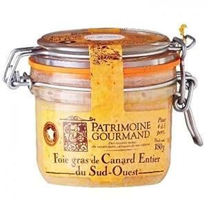 Patrimoine Gourmand - PATRIMOINE GOURMAND - Foie Gras de Canard Entier du Sud-Ouest 180 g - Semi-conserve