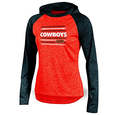 NCAA Oklahoma State Cowboys Adult Women Long sleeve Pullover Colo, X-Small, Orange Heather