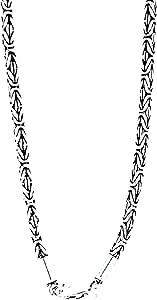 Elegante catena in argento Sterling 925 re in, 3 mm di spessore, disponibile in diverse lunghezze