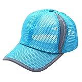 OYSOHE Damen & Herren Baseball Kappe, Neueste Sommer atmungsaktive Mesh Baseball Cap Männer Frauen Sport Hüte(Himmelblau,One size)