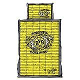 Borussia Dortmund BVB Kinder Bettwäsche Graffiti mit BVB Emblem, mit Reißverschluss,Baumwolle, Schwarz/Gelb,2 teiliges Set 135x100cm / 60x 40 cm one Size