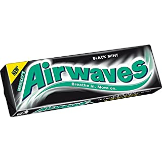 Wrigley's Airwaves Black Mint Chewing Gum (30 Packets (Full Box))