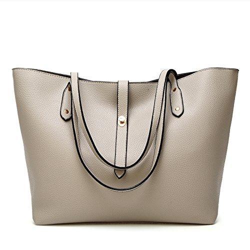 Damen Handtaschen Umhängetasche Taschen Handtasche Shopper TcIFE Grau
