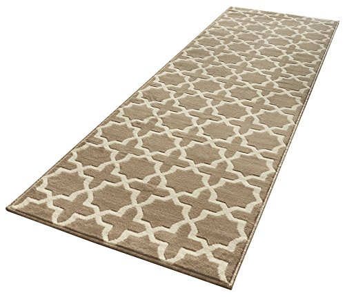Hanse Home Designer Velours Läufer Glam, Polypropylen, Braun, 80 x 200 x 0.9 cm (Amazon-teppiche-läufer)