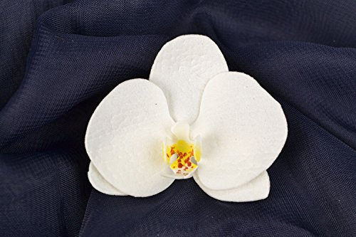 Pinza-con-flor-para-el-pelo-hecha-a-mano-de-fom-con-forma-de-orquidea-blanca