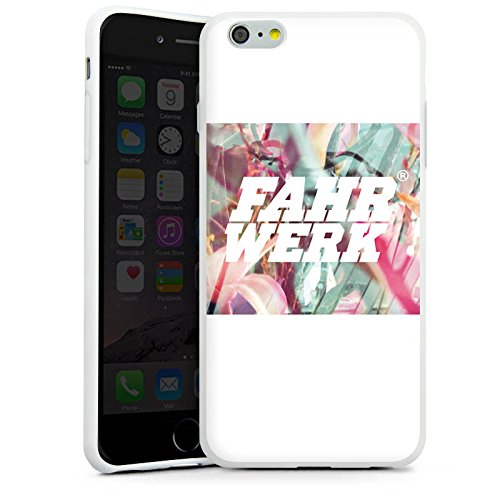 Apple iPhone X Silikon Hülle Case Schutzhülle Fahrwerk Bunt Muster Silikon Case weiß