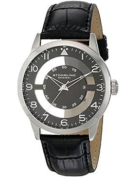 Stuhrling Original 650.02 Herren-Armbanduhr Analog Quarz Leder
