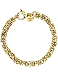 436b5fd08367 Chaîne ou Bracelet Byzantine royale rond Or Doublé ou Or Rosé Doublé,  Collier Femme Homme