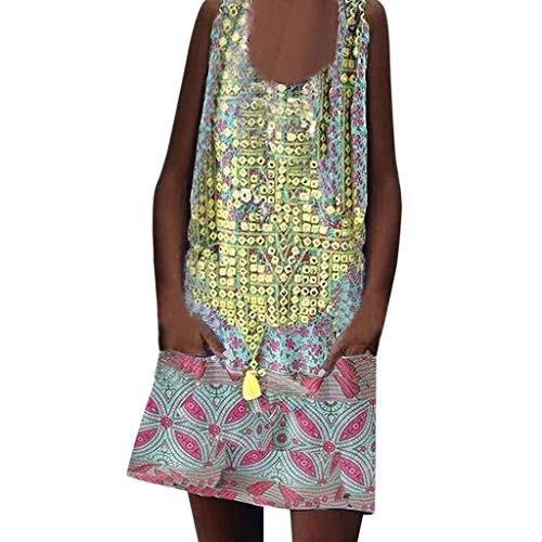 TIFIY Minikleid Drucken Bat Kurzarm Low Cut Beachwear Lässige Lose Mini Boho Kleid Elegante...