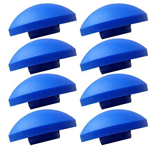 AWM-Trampolin-8x-Endkappen-blau-Sicherheitsnetz-Kappen-Pfosten-Stangen-Ersatzteil-25-mm