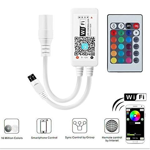 Mini Wireless Wifi RGBW Led Kontrolleur Fernbedienung Arbeiten Steuerung Remote Controller mit Android und IOS System 5V-28V Für 3528 5050 RGB LED Streifen