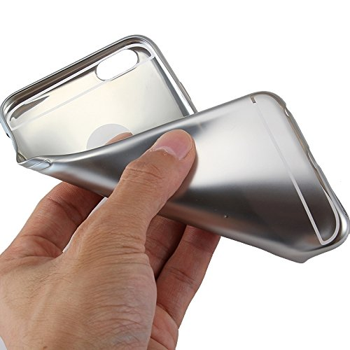 Wkae Case Cover Galvanotechnik TPU Schutzhülle für das iPhone 6 &6s ( Color : Silver ) Silver