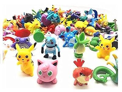 Ducomi® Pokemon Colección de figuras de juguete de los personajes del cartón animado como Pikachu, Charmander, Jigglypuff y muchos otros de Ducomi