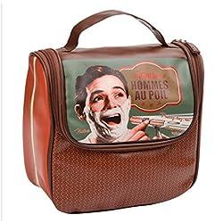 Sac trousse de toilette et Bain pour rasage pop-corn Vintage Retro Paris Pop-Up 5109407094