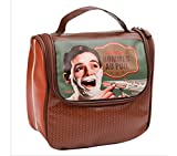 Appliances Men Best Deals - Bolso Neceser de Aseo y Baño para Afeitado Clasico Diseño Vintage Retro PARIS Desplegable 510940 7094