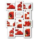 Zep PI01917  - Portafotos múltiple, 46 x 60 x 3.5 cm, color blanco