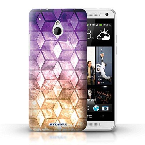 Kobalt® Imprimé Etui / Coque pour HTC One/1 Mini / Rouge / Vert conception / Série Cubes colorés Violet / Orange