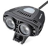 POWERADD LED Fahrradscheinwerfer mit Powerbank, Wiederaufladbares Fahrradlicht, Externer Akku inkl. Regen- und Stoßfest, Besser, Heller, langlebiger