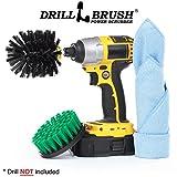 Drillbrush Fliesen und Fugen Drill Pinsel Cordless Bad Strom Scrubber Kit schwarz grün