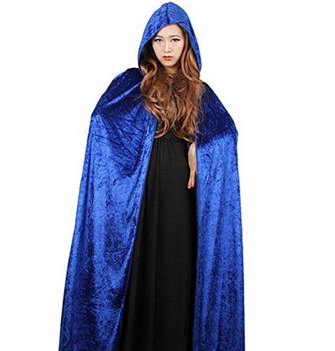 Holloween Flügel Kostüm - DAYAN Erwachsenen Holloween Azrael Cosplay blau Mantel Kostüm For Cosplay Maskerade 130cm
