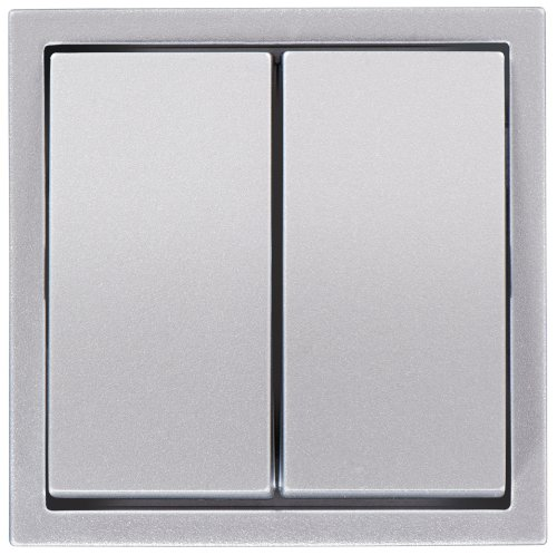 PEHA 00107311 Aura Wippe für 500er Grundelement, Serienschalter/-Taster, alu