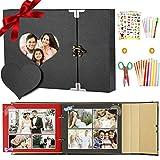 SPECOOL Album Foto,Album Fotografici, Album Fotografico Pagine Nere Fai da Te Perfetto Regalo Anniversario,Natale,San Valentino, Compleanno, Amici a Famiglia,Donna