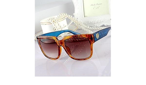 Sunyan Célébrités coréennes, homme, femme, lunettes de soleil, lunettes, lunettes, Lee Min Ho, le même type de lunettes,Leopard Transparent