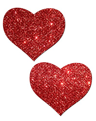 pastease-womens-red-glitter-heart-nipple-pasties-o-s