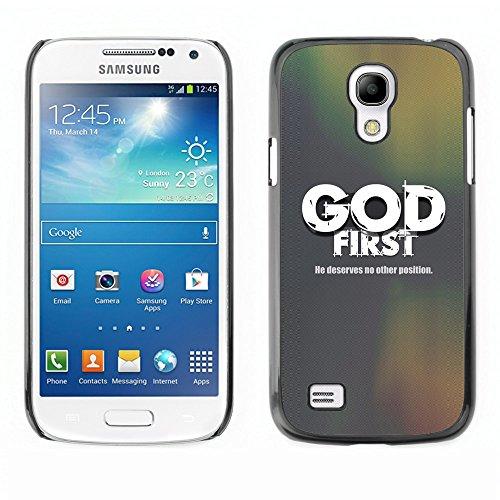 DREAMCASE (NICHT S4 ) Bibelzitate Bild Hart Handy Schutzhülle Schutz Schale Case Cover Etui für SAMSUNG GALAXY S4 MINI i9195 - Dildo erste - er deservers NX anderen Positronen (Samsung Zubehör Mini Nx)