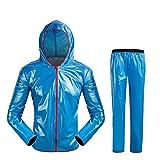 Festnight Unisex Outdoor Wasserdicht Regenanzug Regenkleidung Anzüge Winddicht Radfahren Regenmantel Männer Frauen Fahrrad Regen Mantel Regenjacke und Regenhose