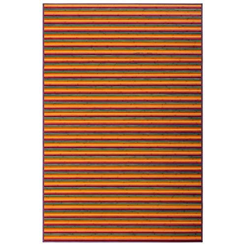 Alfombra de salón Pop Naranja de bambú para Comedor de 200 x 300 cm Iris - LOLAhome