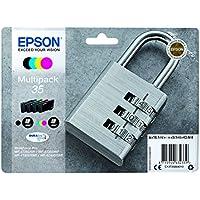 Epson DURABrite Ultra Ink, Cartucho de Tinta para Impresoras, 35 Normal, Multicolor (Negro, Cian, Magenta, Amarillo)