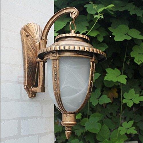 Bronze Groß Outdoor Wand Laterne (Dlpf Die Outdoor Innenhof Mit Garten Balkon An Der Wand Wasser Villa Große Bronze, 5 W)