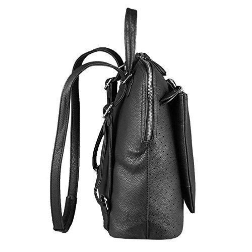 OBC Only-Beautiful-Couture, Borsa a zainetto donna Rosso Bordo 32x32x14 cm ca.: 32x32x14 cm (BxHxT) Schwarz 32x32x14 cm