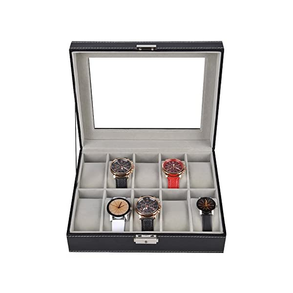 AWinEur Faux Leather Watch Box 51l7wtGSEsL