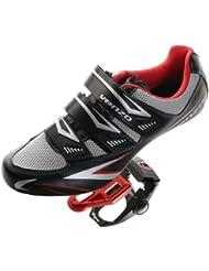 Venzo Klick-Schuhe & Pedale für Rennrad Shimano Spd Sl schwarz