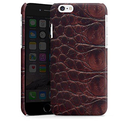 Apple iPhone 5s Housse étui coque protection Look cuir de crocodile Crocodile Motif Cas Premium brillant