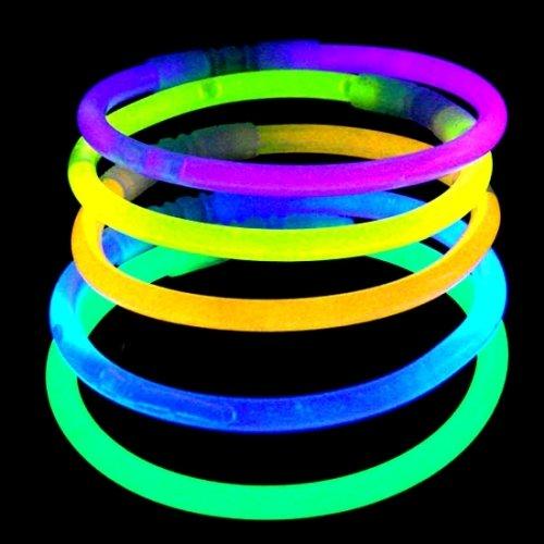 Carpeta® - 10 x Knicklichter + 10 x Steckverbinder┃ Kindergeburtstag Mitgebsel ┃ Nachtwanderung ┃ in knallbunte Farben ┃ Kinder lieben diese Glow-Sticks