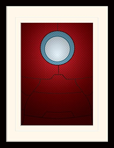 Pyramid International MP11195P-PL Avengers Assemble (Iron Man Torso) montiert und gerahmt, mounted 250 gsm Paperwrap MDF, mehrfarbig, 44 x 33 x 4 cm Das Punisher-logo-poster