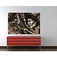 "Bilderdepot24 Fotomural ""Bruce Lee roja - sepia"" 90x60 cm - Papel tejido-no tejido. Fotomurales - Papel pintado - la fabricación made in Germany!"