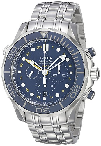 Omega Seamaster Diver 300M Co-Axial GMT Chronograph Mens Watch 212.30.44.52.03.001