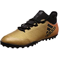 Adidas X Tango 17.3 Tf, Scarpe da Calcio Uomo, Oro Tagome/Cblack/Solred, 44 EU