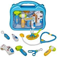 Doctora Juguetes Maletin, Médico juguetes, Maletín Doctora Medico Juguetes Niños, Médico Pretender de Juguetes para 3 4 5 6 Años