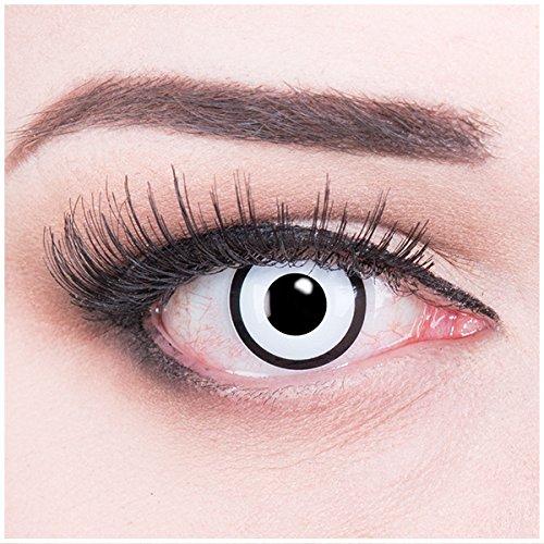Zombie Kontaktlinsen mit Pflegemittel mit Behälter ohne Stärke, 1er Pack (1 x 2 Stück) (Haloween Kontaktlinsen)