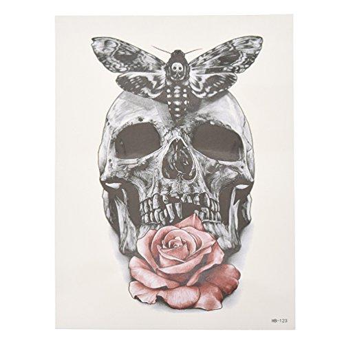 YNuth-Tatouage-Ephmre-Squelette-Humain-Rose