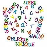 ABC Alphabet Sticker 212 Buchstaben Set Aufkleber Kinder Lernen mit Umlauten