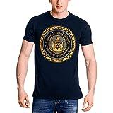 Elbenwald Señor de los Anillos Camiseta de los Hombres Juntos para Gondor algodón Azul - L