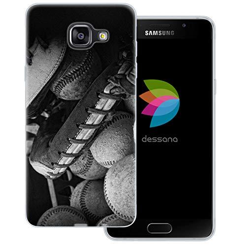dessana Baseball Transparente Schutzhülle Handy Case Cover Tasche für Samsung Galaxy A5 (2016) Ausrüstung Baseball Mlb Baseball-handy