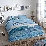 Good Morning! Wendebettwäsche Renforcé blau Größe 155x220 cm (80x80 cm)